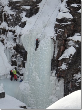 Ice-climbing in Abisko National Park